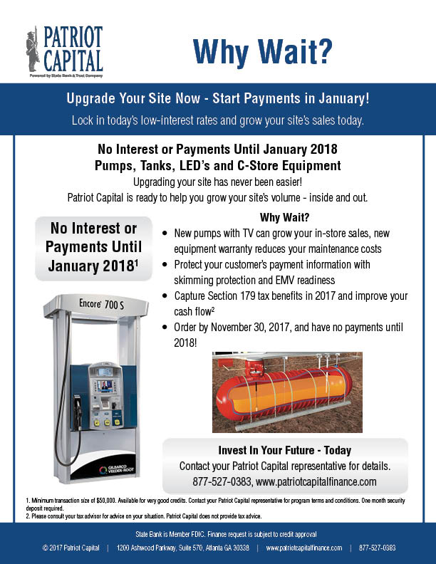 UPGRADE YOUR SITE NOW - START PAYMENTS IN JANUARY!