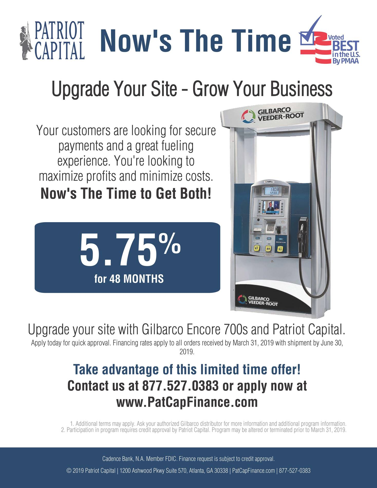 Upgrade Your Site and Grow Your Business. Apply for Financing Now!
