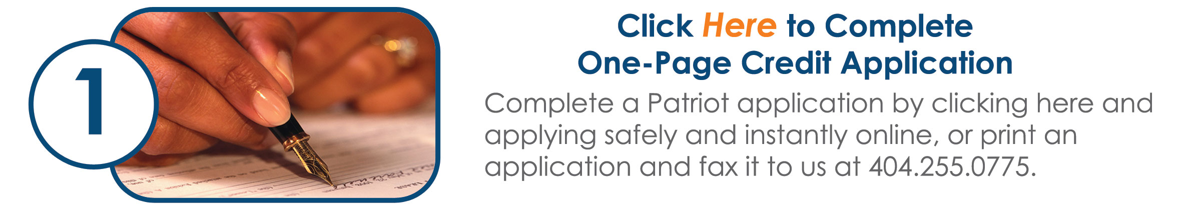 Click here to complete one-page credit application