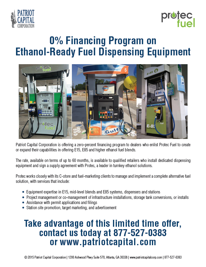 0% Financing on Ethanol-Ready Fuel Dispensing Equipment